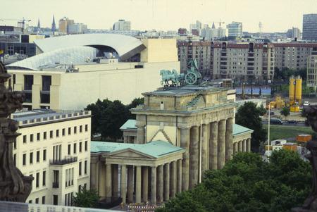 db: MAY 2003 - BERLIN: aerial view of the Brandenburg Gate in Berlin. Editorial