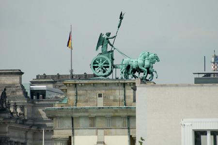 quadriga: JULY 2005 - BERLIN: the Quadriga on the Brandenburg Gate, Berlin.