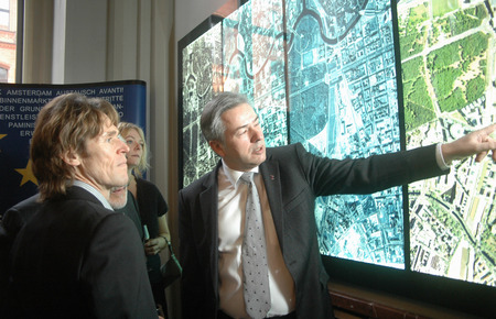 jurado: Willem Dafoe, Klaus Wowereit - Recepción para miembros del jurado de la Berlinale 2007, Ayuntamiento de Berlín, el 11 de febrero del 2007, Berlin-Mitte.