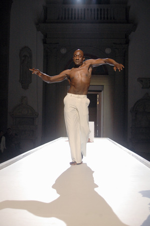 apollo: November 15, 2006 - BERLIN: Ismael Ivo During a rehearsal for the ballet  Apollo and Hyacinth , Bode Museum, Berlin. Editorial