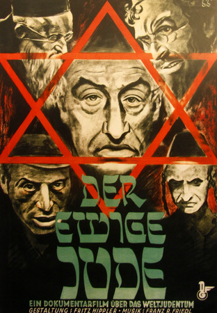 berchtesgaden: The Eternal Jew  Propaganda Poster of the Third Reich for the anti-Semitic film of the same name, documentation center Obersalzberg, Berchtesgaden, Alps near Berchtesgaden, Bavaria.