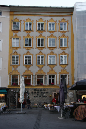 amadeus: the birthplace of Wolfgang Amadeus Mozart, Salzburg, Austria. Editorial