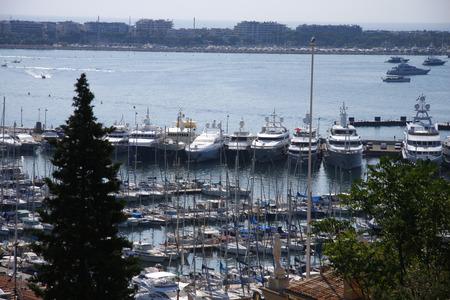 azur: Impressions: Marina, Cannes, Cote d Azur, France  Cannes, Cote d Editorial