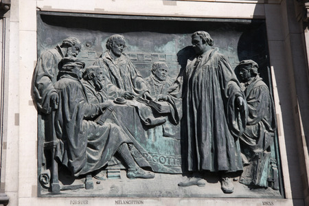 martin luther: Martin Luther sculpture at the Berlin Cathedral, Berlin-Mitte.