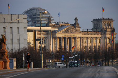 JANUARY 2012 - BERLIN: the Reichstag building in Berlin. Editorial
