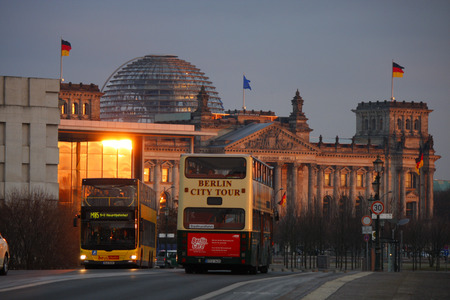 streetscene: JANUARY 2012 - BERLIN: the Reichstag building in Berlin. Editorial