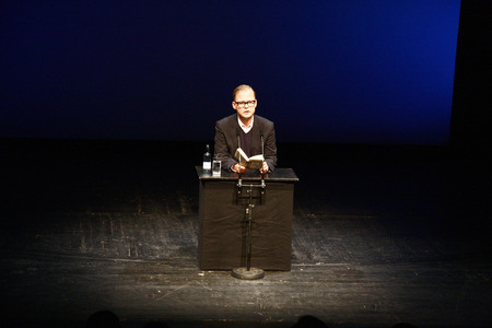 appeals: Christian Kracht - reading from the new book  Ill be here in sunshine and in shadow , Deutsches Theater, October 24th 2008, Berlin-Mitte. Editorial