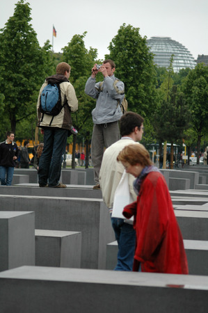 holocaust: MAY 12, 2005 - BERLIN: the Holocaust Memorial on the day of its official opening in Berlin. Editorial