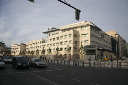CIA: MAY 2008 - BERLIN: the US American Embassy in the middle dristrict of Berlin. Editorial