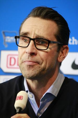 michael: Michael Preetz - Presentation of the new coach of Hertha BSC Berlin, February 5, 2015 in Berlin.