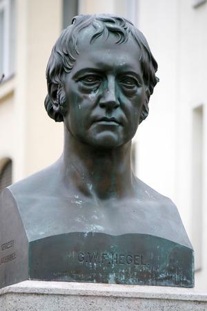 friedrich: Georg Wilhelm Friedrich Hegel - bust, Berlin-Mitte.