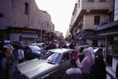 chan: Khan el-Khalili Bazaar  Chan al Khalili Bazaar, Cairo, Egypt  Egypt. Editorial