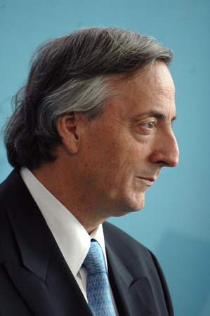 carlos: Argentine President Nestor Kirchner of Carlos, Federal Chancellery, Berlin-Tiergarten. Editorial