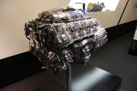 liter: an AMG 6.3 liter 12 cylinder engine for Mercedes, Nov. 2013 Berlin. Editorial