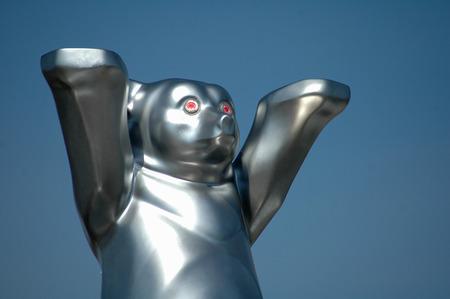 buddy: Silver  Buddy Bear.