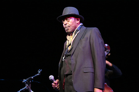 the quartet: Archie Shepp - appearance of  Archie Shepp Quartet  in the context of the Berlin Jazz Festival October 31, 2014 in Berlin.