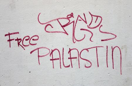 """slogan: eslogan político """"Palestina libre"""", de Berlín. Editorial"""