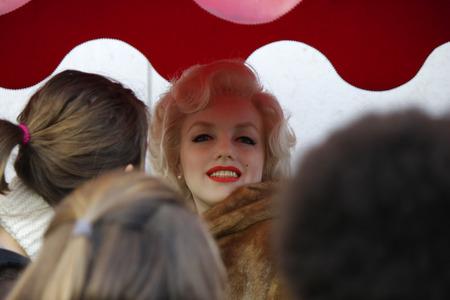 """marilyn monroe: Waxfigur: Marilyn Monroe before the waxworks  """"Madame Tussaud """", December 2013 in Berlin."""
