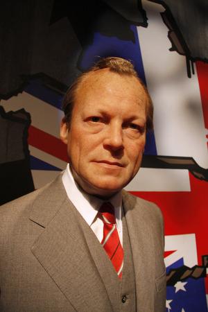 willy: Willy Brandt - wax figure at Madame Tussauds, July 10, 2008, Unter den Linden, Berlin-Mitte.
