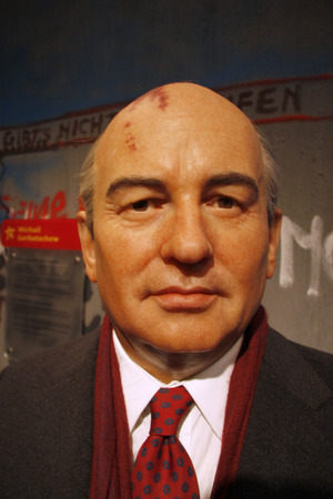 gorbachev: Mikhail Gorbachev - wax figure at Madame Tussauds, July 10th 2008, Unter den Linden, Berlin-Mitte.