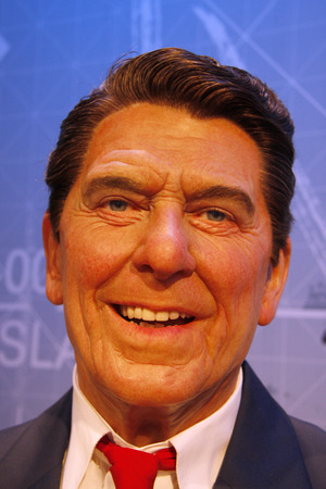 ronald reagan: Ronald Reagan - wax figure at Madame Tussauds, July 10th 2008, Unter den Linden, Berlin-Mitte.