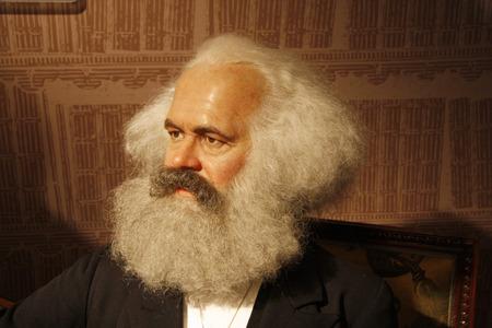 Karl Marx - Wachsfigur bei Madame Tussauds, den 10. Juli 2008 Unter den Linden, Berlin-Mitte.