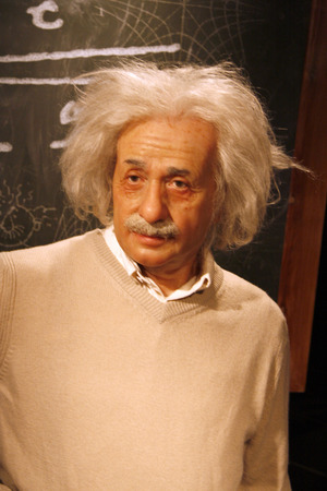 albert: Albert Einstein - wax figure at Madame Tussauds, July 10th 2008, Unter den Linden, Berlin-Mitte.