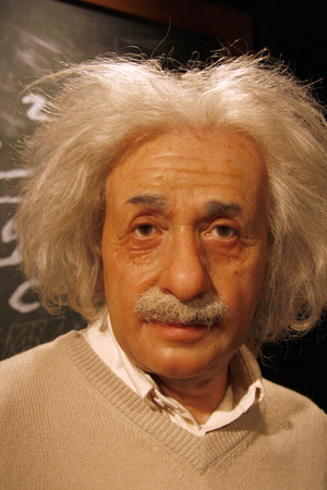 einstein: Albert Einstein - wax figure at Madame Tussauds, July 10th 2008, Unter den Linden, Berlin-Mitte.