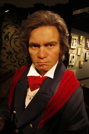 beethoven: Ludwig van Beethoven - wax figure at Madame Tussauds, July 10th 2008, Unter den Linden, Berlin-Mitte.