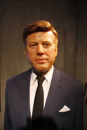 Kennedy: John F. Kennedy - wax figure at Madame Tussauds, July 10th 2008, Unter den Linden, Berlin-Mitte.