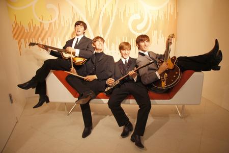 the beatles: The Beatles - wax figure at Madame Tussauds, July 10, 2008, Unter den Linden, Berlin-Mitte. Editorial