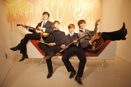 The Beatles - wax figure at Madame Tussauds, July 10, 2008, Unter den Linden, Berlin-Mitte. Editorial