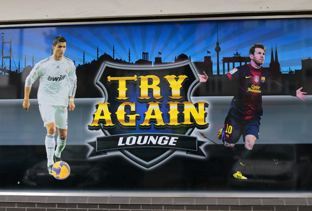 to try: Brand names:  Try Again Lounge , Berlin. Editorial