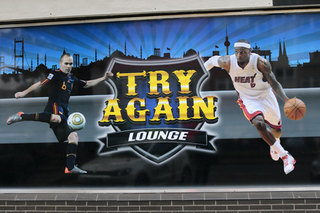 Brand names:  Try Again Lounge , Berlin. Editorial