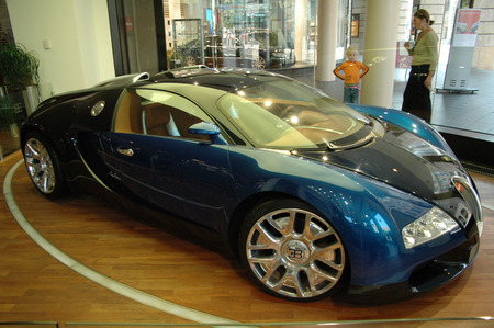 fastest: September 2005 - BERLIN: the fastest serial car of the world: the Bugatti Veyron.