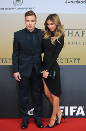 mario: Mario Goetze, Ann-Kathrin Brmmel - premiere of the film by the winning the Football World Cup 2014  The team  Sony Center, November 10, 2014 in Berlin.