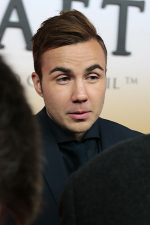 "mario: Mario Goetze - premiere of the film by the winning the Football World Cup 2014  ""The team "" Sony Center, November 10, 2014 in Berlin."