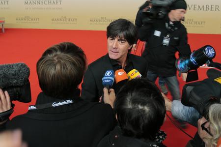 "football world cup: Joachim Loew - premiere of the film by the winning the Football World Cup 2014  ""The team "" Sony Center, November 10, 2014 in Berlin."