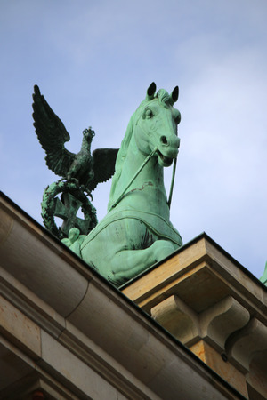 quadriga: Quadriga, Brandenburger Tor, Berlin-Mitte.