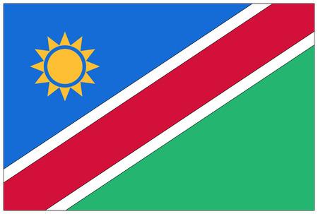 namibia: Flag: Namibia  flag: Namibia. Stock Photo