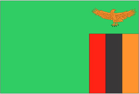 zambia: Flag: Zambia  flag: Zambia. Stock Photo