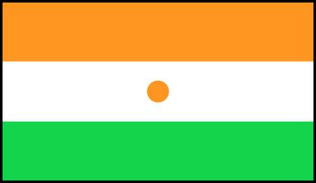 niger: Flag: Niger  flag Niger. Stock Photo