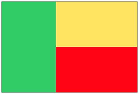 benin: Flag: Benin  flag: Benin. Stock Photo