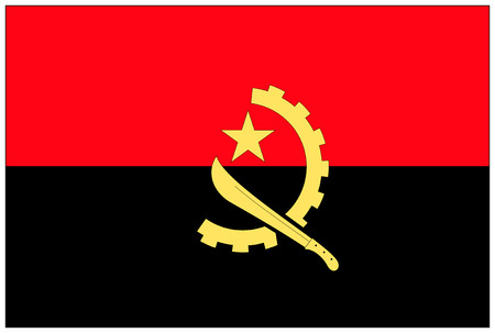 angola: Flag: Angola  flag: Angola. Stock Photo