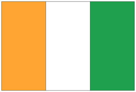 ivory: Flag: Ivory  flag: Ivory Coast. Stock Photo