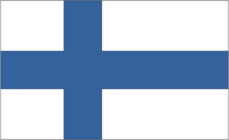 Flag: Finland  Flagge: Finnland.