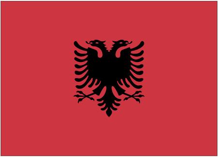 Flag: Albanien  Flagge: Albanien.