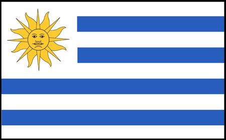 uruguay flag: Flag: Uruguay  flag: Uruguay. Stock Photo