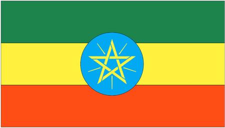 ethiopia flag: Flag: Ethiopia  flag: Ethiopia. Stock Photo