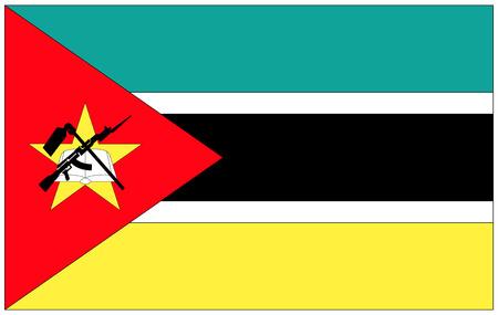 mozambique: Flag: Mozambique  flag: Mozambique. Stock Photo